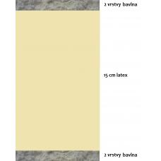 prirodni-futony.cz, bavlněná řada, futon SOFT 15, přírodní matrace od 200x80cm