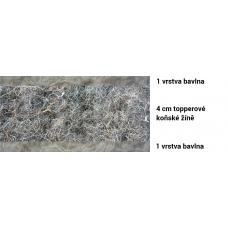 prirodni-futony.cz, bavlněná řada, futon TOPPER, přírodní matrace od 200x80cm