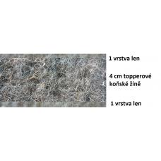 prirodni-futony.cz, lněná řada, futon TOPPER, přírodní matrace od 200x80cm